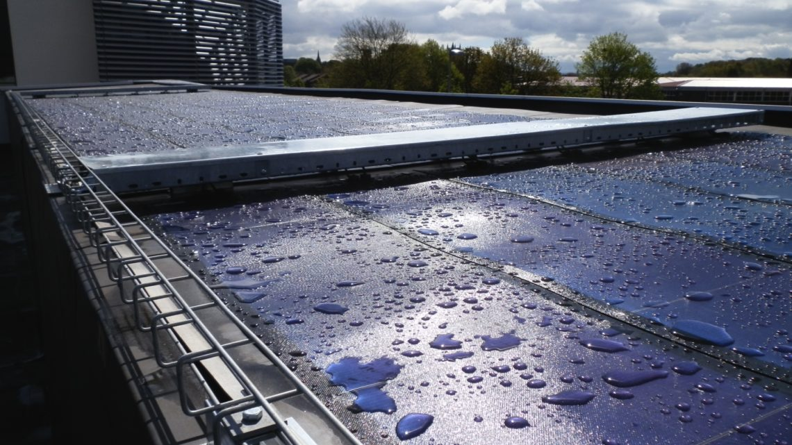 newcastle under lyme college waterproof blue roof covering