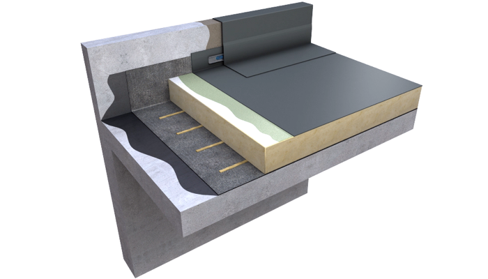 3 D still Ecoflex ADH warm roof single layer concrete