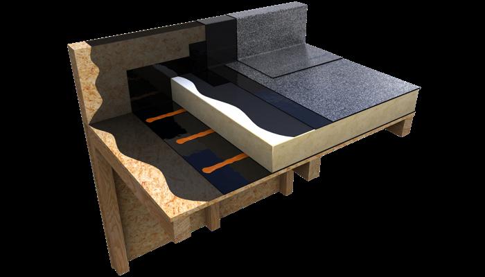 NEO BITUMEN flame free warm roof timber