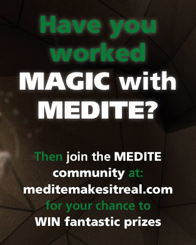 A brochure advertising the Medite Makes it Real website